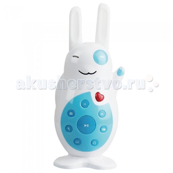Музыкальная игрушка Alilo Зайка V8Зайка V8Музыкальная игрушка Зайка  Классный зайчик Alilo V8 играет разную музыку, рассказывает сказки, воспроизводит записанный вами контент или голос, а также светится ушками в темноте.  Функция Bluetooth: проигрывайте музыку с других устройств Безопасно для ребёнка: конструкция без острых краёв Прочный, как танк. Если бы танки делались из ABS пластика Мягкие силиконовые ушки могут светиться 5 часов непрерывной игры без подзарядки! Зарядка через USB (кабель прилагается) Можно записать с компьютера свои звуковые файлы Умеет записывать ваш голос! Встроенная 4 Гб микро SD карта Успокаивающие звуки для крепкого сна ребёнка (белый шум) Помнит, где остановилось проигрывание Блокиратор кнопок Яркая инструкция на русском и гарантия 30 дней Громкость регулируется с помощью хвостика<br>
