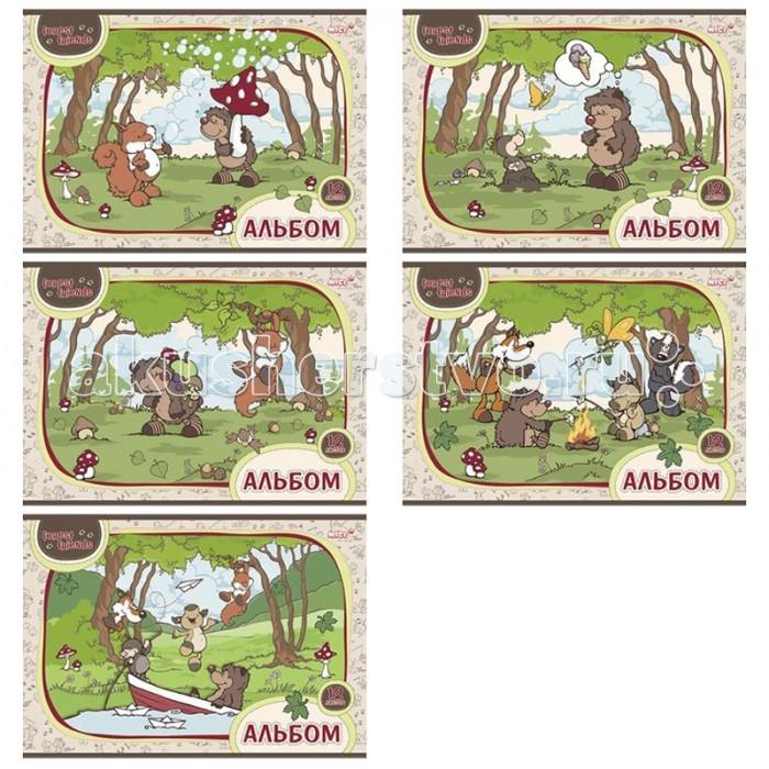 Принадлежности для рисования Hatber Альбом для рисования 12 листов Лесные друзья the art of kentaro nishino зайчики лицензия альбомы для рисования гребень 40 листов