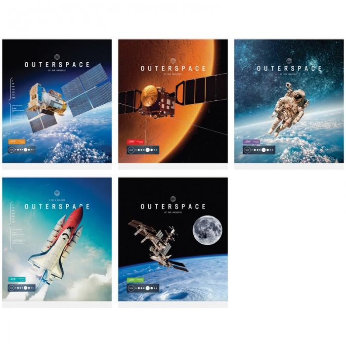 Тетради Спейс Тетрадь А5 клетка Космос Outerspace ТВИН-лак (48 листов) делай 100 листов а5