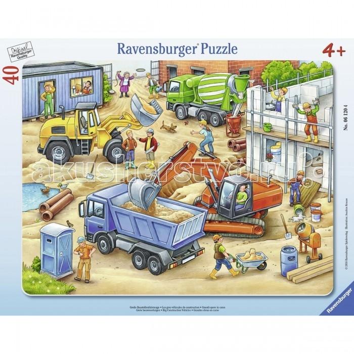потрогай и узнай большие машины Пазлы Ravensburger Пазл Большие строительные машины 40 элементов