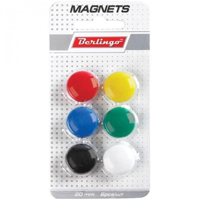 Канцелярия Berlingo Магнит для досок 2 см 6 шт. канцелярия berlingo магнит для досок 2 см 6 шт