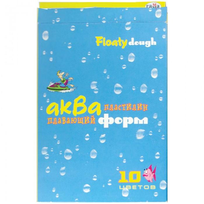 Всё для лепки Гамма Пластилин Акваформ плавающий со стеком 10 цветов пластилин детский классика 16 цветов 20с 1329 08