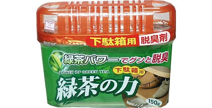 Бытовая химия Kokubo Дезодорант-поглотитель неприятных запахов, экстракт зелёного чая, для обувных шкафов 150 г поглотитель запаха для холодильников selena