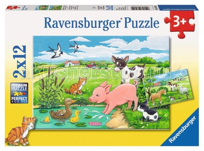 Пазлы Ravensburger Пазл Детки фермерских животных 2х12 элементов