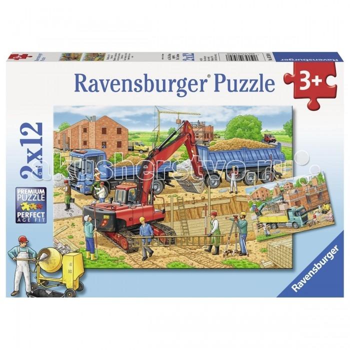 Пазлы Ravensburger Пазл Стройка дома 2х12 элементов