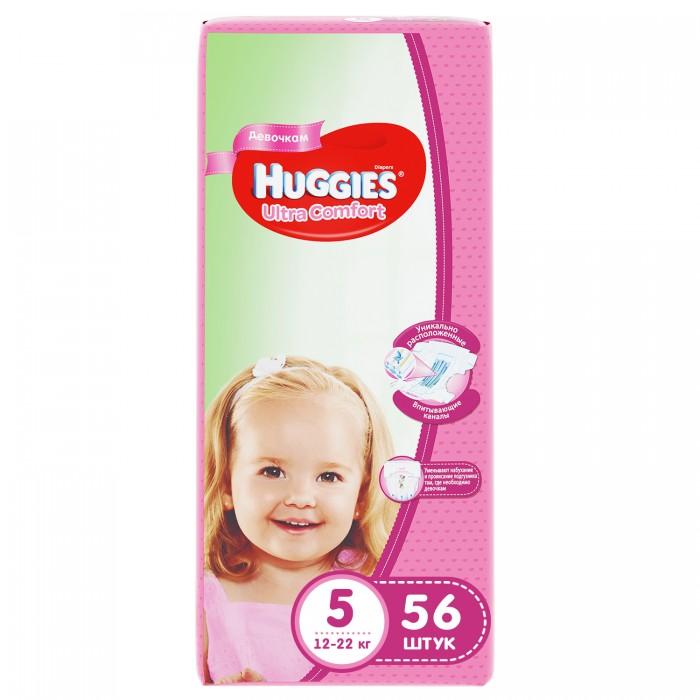 Подгузники Huggies Подгузники Ultra Comfort Mega для девочек 5 (12-22 кг) 56 шт. huggies подгузники для девочек ultra comfort 12 22 кг 105 шт