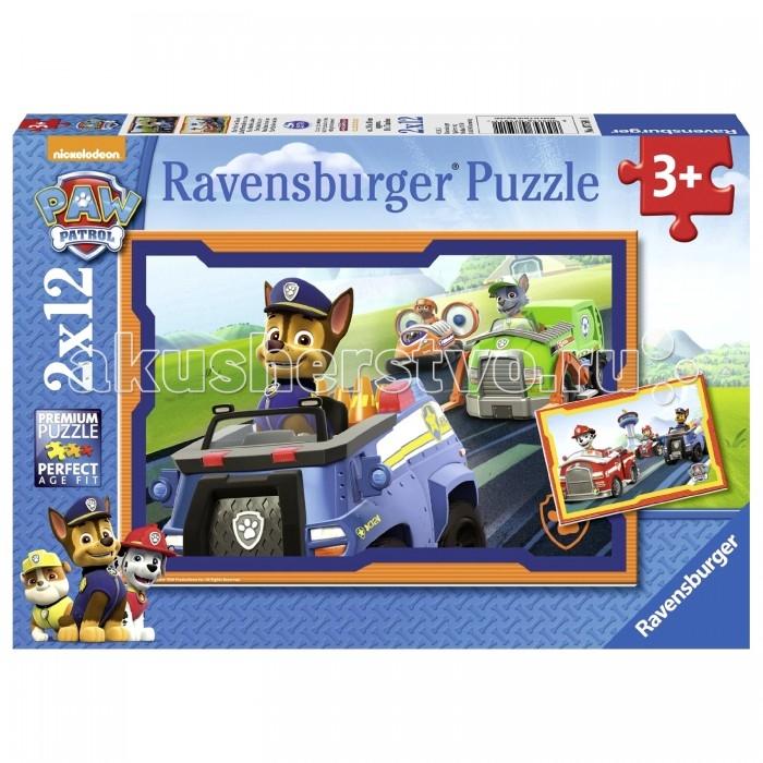 Пазлы Ravensburger Пазл Щенячий патруль в действии 2х12 элементов spin master большой автомобиль спасателей погрузчик рокки щенячий патруль