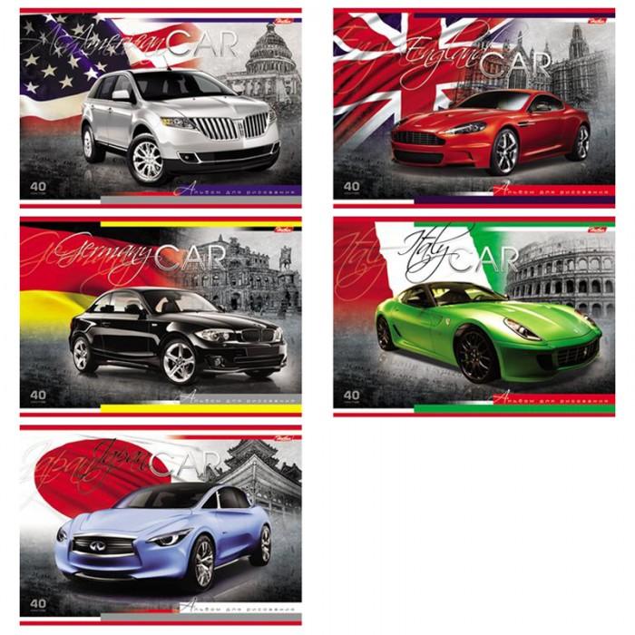 Принадлежности для рисования Hatber Альбом для рисования 40 листов Country Cars