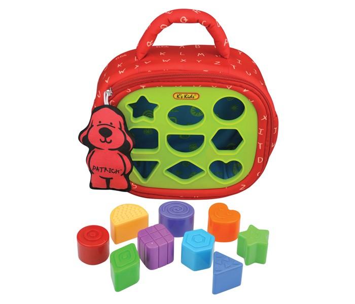 Сортер KS Kids ПатрикПатрикСортер Патрик K`s Kids - помогает малышам изучать формы и цвета.  Вставляем разноцветные фигурки в отверстия, и они оказываются внутри яркого чемоданчика. Чтобы начать игру снова, нужно просто расстегнуть замочек и извлечь фигурки.  На обратной стороне находятся шуршащие текстильные квадратики с изображением разных предметов, помогающих ребёнку закрепить полученные знания. Под каждым квадратиком малыша ждут новые открытия.  Ребёнок поймёт, что все предметы, которые он видит, имеют определённую форму.<br>