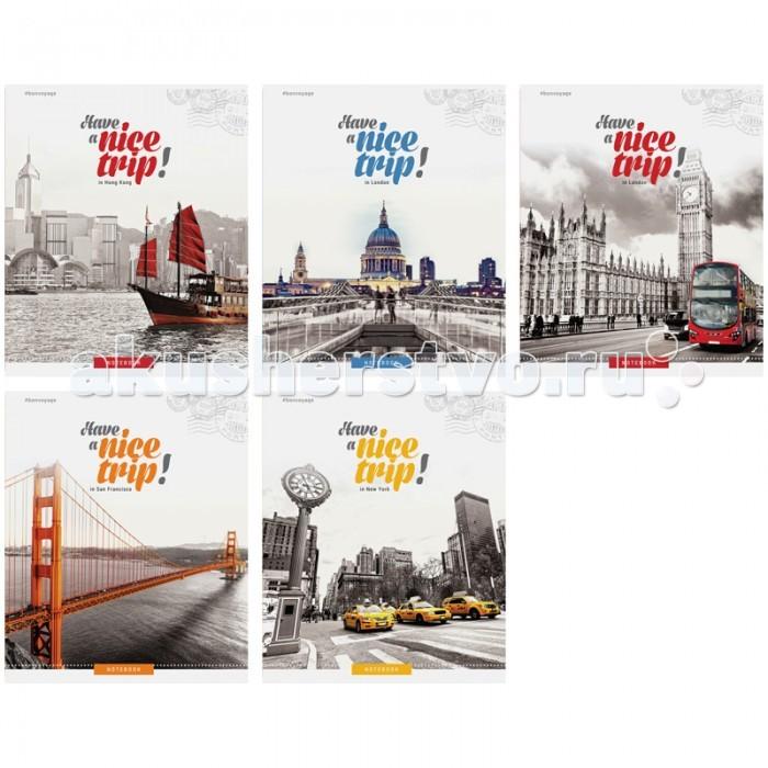 Тетради Спейс Тетрадь А5 клетка Путешествия Nice trip металлизированный картон (48 листов) делай 100 листов а5