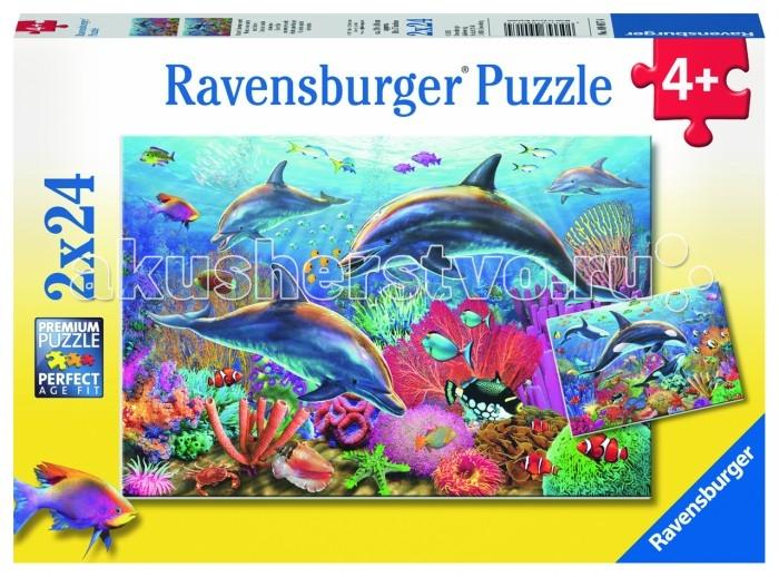 Пазлы Ravensburger Пазл Красота подводного мира 2х24 элемента