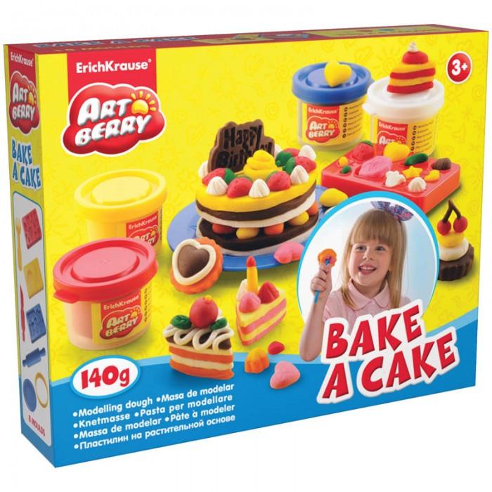 Erich Krause Масса для лепки Bake a Cake 4 цвета по 35 г с формочками