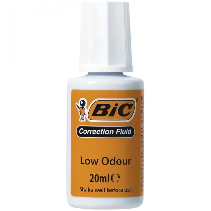 Канцелярия BIC Корректирующая жидкость водная с кистью 20 мл канцелярия