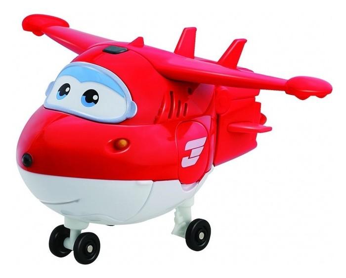 Super Wings Говорящий трансформер ДжеттГоворящий трансформер ДжеттГоворящий трансформер Джетт   Чтобы удивить ребенка игрушкой, достаточно просто посмотреть, какой мультфильм он смотрит чаще всего. Если это приключения отважных самолетов «Супер Крылья», то кроха будет в восторге от этого яркого трансформера, который так похож на героя по имени Джетт.   Он не только разнообразит игры детей, но и сделает их реалистичнее благодаря световым и звуковым эффектам игрушки.<br>