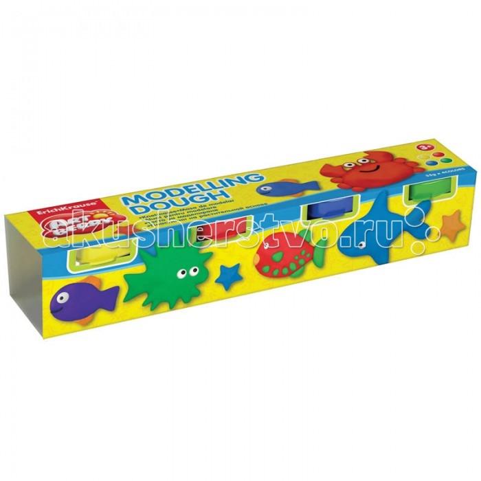Всё для лепки Erich Krause Масса для лепки Modelling Dough №1 4 цвета по 35 г пластилин erich krause со стеком 18 цветов