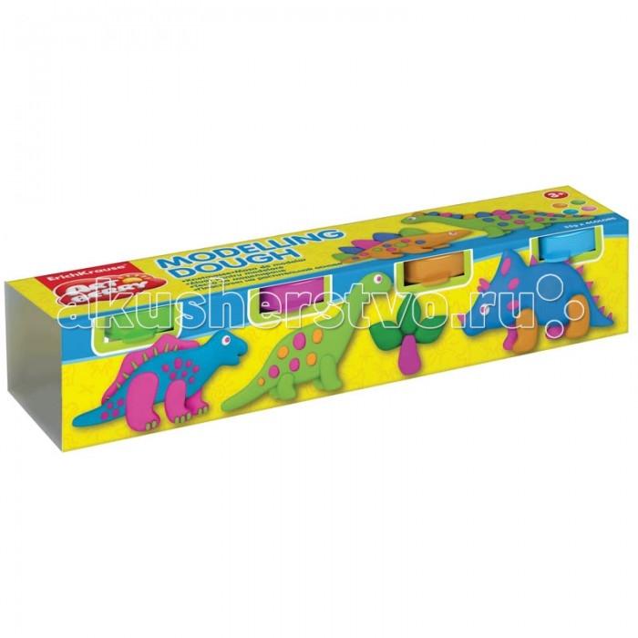 Всё для лепки Erich Krause Масса для лепки Modelling Dough №2 4 цвета по 35 г всё для лепки lori пластилин классика 16 цветов