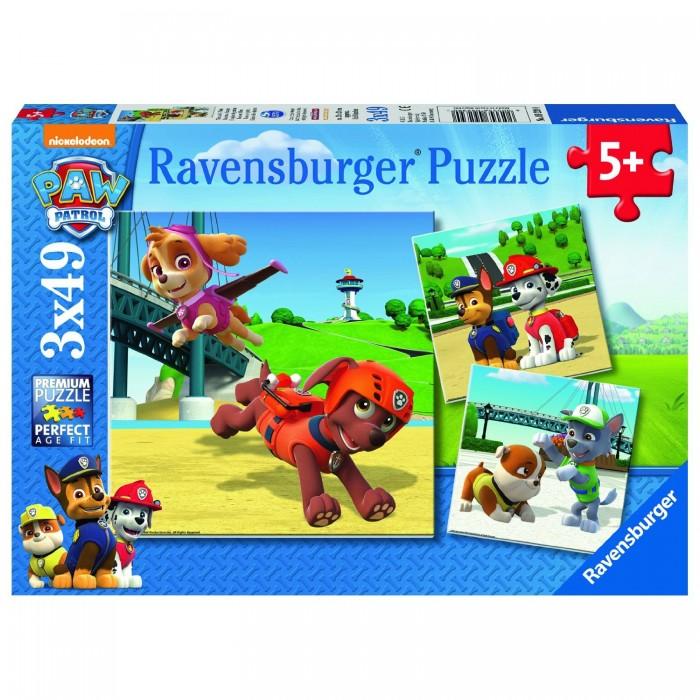 Пазлы Ravensburger Пазл Щенячий патруль 3х49 элементов пазлы ravensburger пазл 3 в 1 щенячий патруль крепыш маршалл и гончик