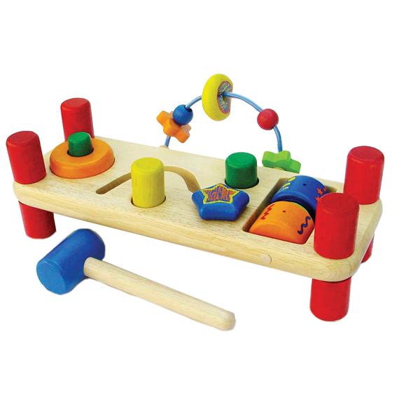 цены  Деревянные игрушки Im toy Развивающая скамейка
