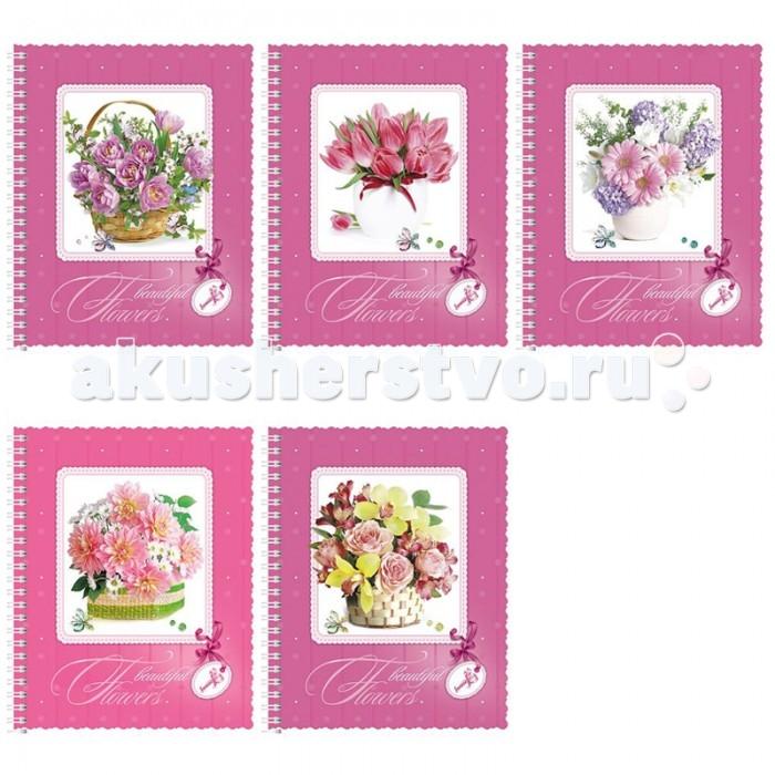 Тетради Hatber Тетрадь Beautiful flowers Ваниль А5 (48 листов)