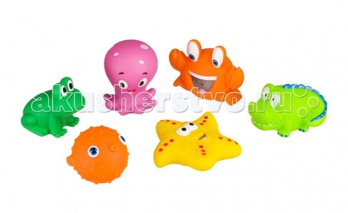 Happy Baby Набор ПВХ-игрушек для купания Water Fun