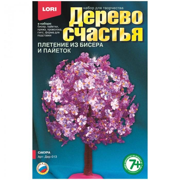Наборы для творчества Lori Набор для рукоделия - Дерево счастья Сакура всё для лепки lori пластилин классика 16 цветов