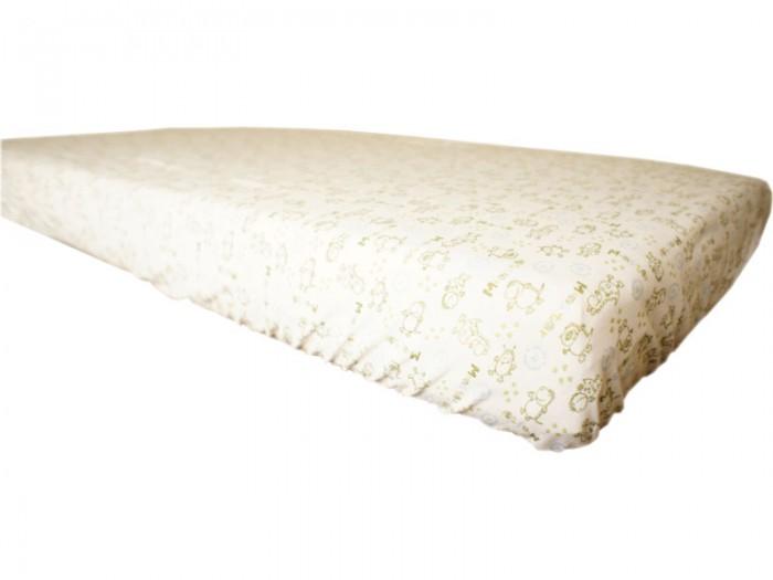 Простыни Папитто Простыня на резинке (трикотаж) 125х60 простыни swaddledesigns простынь детская на резинке fitted crib sheet 140х70