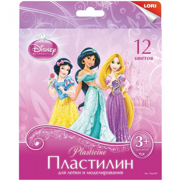 Всё для лепки Lori Пластилин Disney Принцессы 12 цветов 240 г пластилин lori принцессы 12 цветов
