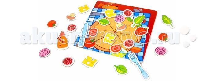 classic world из дерева создай свой собственный гараж Деревянные игрушки Classic World Развивающая магнитная игра Пицца