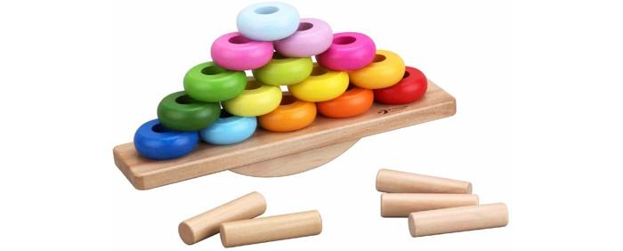 classic world из дерева создай свой собственный гараж Деревянные игрушки Classic World Развивающая Балансирующая пирамидка