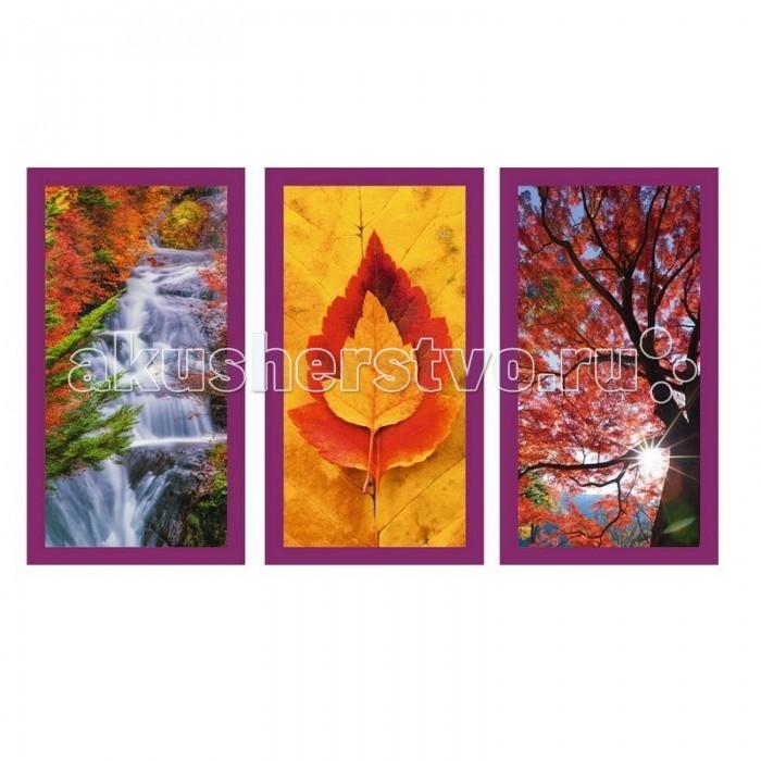 Ravensburger Пазл Осенние впечатления 3х500 элементовПазл Осенние впечатления 3х500 элементовRavensburger Пазл Осенние впечатления 3х500 элементов 16328  Набор пазлов 3 в 1 Осенние впечатления - это замечательный комплект для сборки трех удивительных изображений. Готовые картины посвящены теме осени, на них изображены деревья с красными листьями, водопад с чистейшей водой на фоне красивого пейзажа и красно-желтые листики.   Детали пазлов выполнены из качественного картона и плотно присоединяются друг к другу без зазоров. У них своя определенная форма, и они подходят только на свои места.  Готовыми изображениями можно разнообразить интерьер комнаты.  Размер собранного поля: 60 х 33 см.<br>