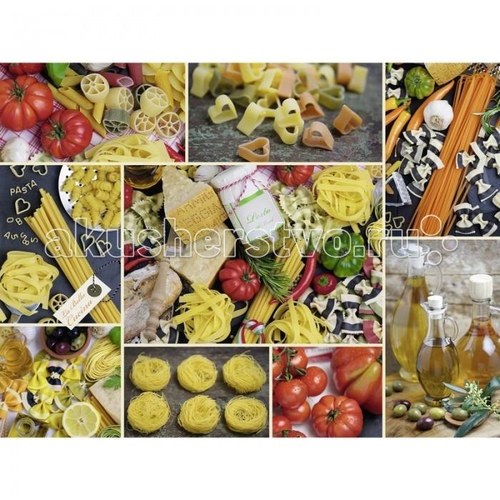 Ravensburger Пазл Паста 1500 элементовПазл Паста 1500 элементовRavensburger Пазл Паста 1500 элементов 16330  Для любителей итальянской кухни пазл Паста придется по душе, он состоит из 1500 элементов. На картине можно увидеть изображение разных видов макаронных изделий, красных и зеленых помидоров, оливкового масла в стеклянных кувшинчиках и разных специй. Глядя на эту картину, попадаешь в мир шумных итальянцев, которые ни дня не могут прожить без спагетти.   Элементы пазла выполнены из качественного картона, каждая деталь обладает своей определенной формой и подходит только на свое место. Такую картину будет интересно собирать, ведь все детали очень красочные, не однотонные. Сборка пазла способствует развитию координации движений, усидчивости, наблюдательности, образного мышления и цветового восприятия.   Готовое изображение можно повесить на стену и украсить интерьер кухни.  Размер собранного поля: 80 х 60 см.<br>
