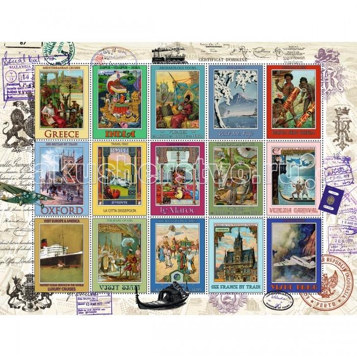 Пазлы Ravensburger Пазл Коллекция марок 2000 элементов побережье шотландия пазл 2000 элементов
