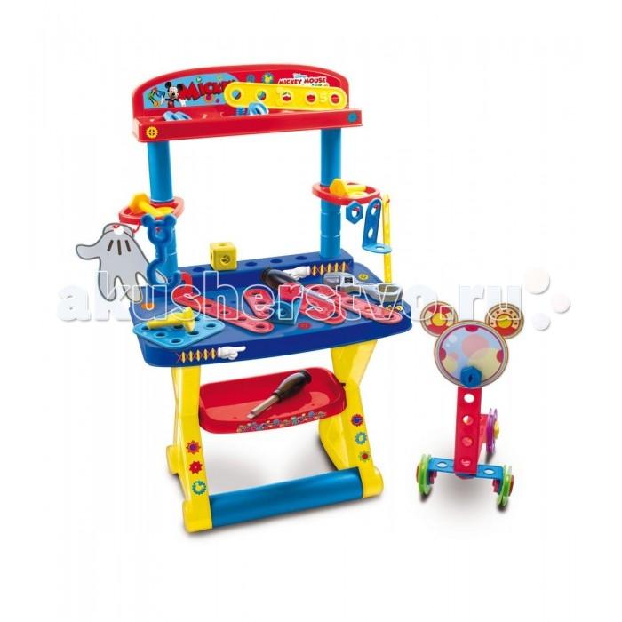 IMC toys Стол с инструментами Mickey Mouse DisneyСтол с инструментами Mickey Mouse DisneyИгровой набор IMC toys Стол с инструментами Mickey Mouse Disney порадует любого малыша и позволит ему побыть в роли настоящего мастера.   Стол включает в себя различные детали - от инструментов, до элементов конструктора, с помощью которых ребенок самостоятельно сможет собрать множество увлекательных игрушек.   В мастерской Mickey Mouse можно провести не один час. Здесь имеется все необходимое для ремонтных работ: удобная стойка, отвертки, ключи, гайки, планки и другие инструменты.   Все детали удобно хранить на специальных полочках и крючках.<br>