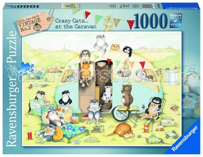Пазлы Ravensburger Пазл Безумные коты 1000 элементов