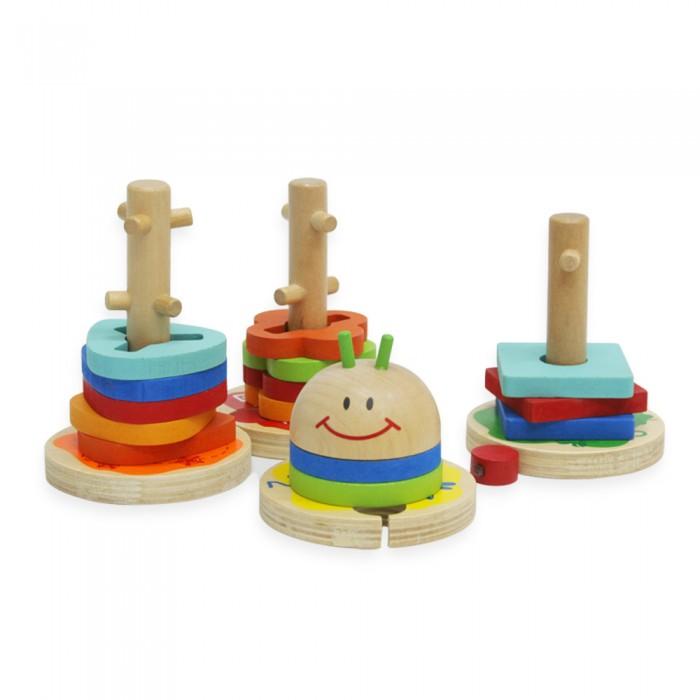 Деревянные игрушки Фабрика фантазий Сортер Гусеница 15 деталей 47478 деревянные игрушки фабрика фантазий сортер бабочка