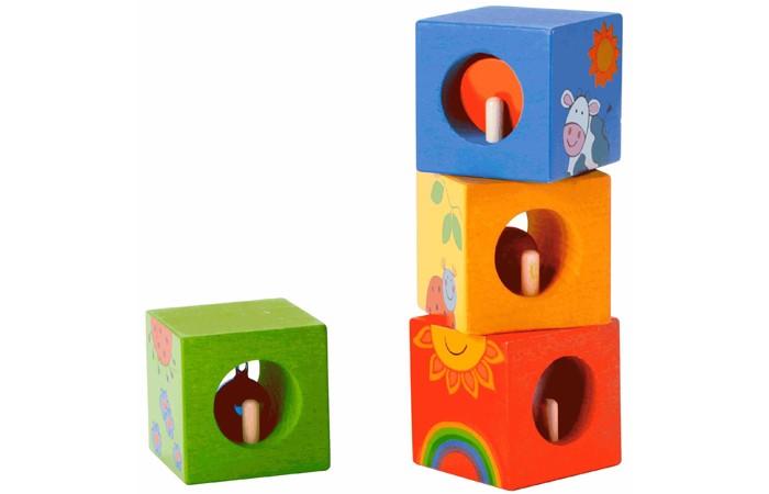 Деревянные игрушки Classic World Кубики-пазлы Волшебные кубики с сюрпризом бусины и горки classic world
