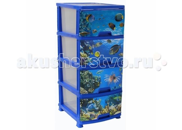 Ящики для игрушек Idea (М-Пластика) Комод Классик Деко