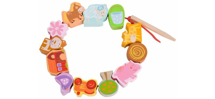Деревянные игрушки Classic World Развивающая игра-шнуровка Любимая ферма игра каррас аква ферма x197