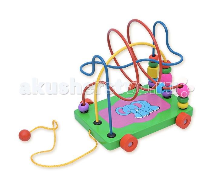 Деревянные игрушки Фабрика фантазий лабиринт-каталка Слоник 47486 деревянные игрушки фабрика фантазий сортер бабочка