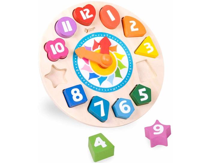 Игры для малышей Classic World Сортер Часы Тик-Так