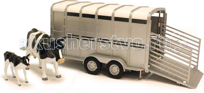 Игровые наборы Tomy Трейлер для перевозки животных с коровой и теленком игровые наборы tomy игровой набор приключения трактора джонни и лошади на ферме