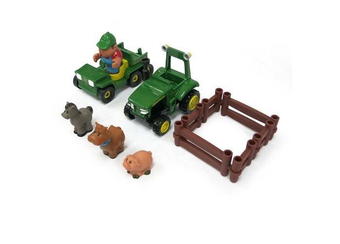 Игровые наборы Tomy Игровой набор Фермерские забавы машинки tomy трактор john deere monster treads с большими резиновыми колесами tomy