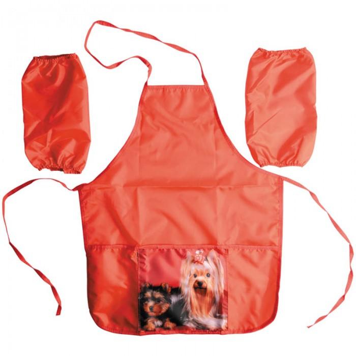 фартук printio собачка с бантиком Детские фартуки Спейс Фартук с нарукавниками 3 кармана Собачка