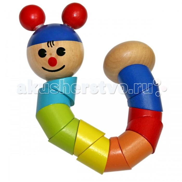 Деревянные игрушки Фабрика фантазий Гусеница 47483 деревянные игрушки фабрика фантазий сортер бабочка