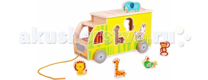 Каталка-игрушка Classic World Сортер Сафари