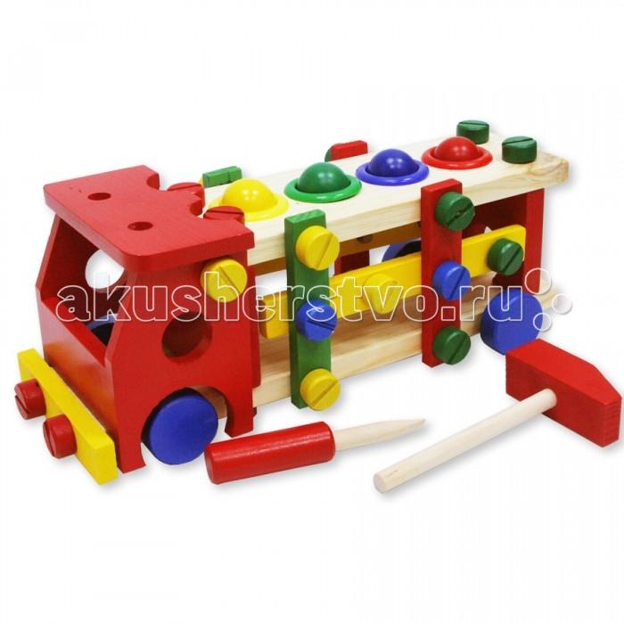 Деревянная игрушка Фабрика фантазий Конструктор и забивалка Машинка 42285