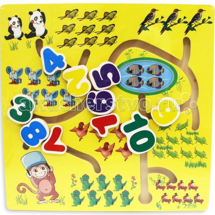 Деревянные игрушки Фабрика фантазий Лабиринт Счет 47488 деревянные игрушки фабрика фантазий сортер бабочка