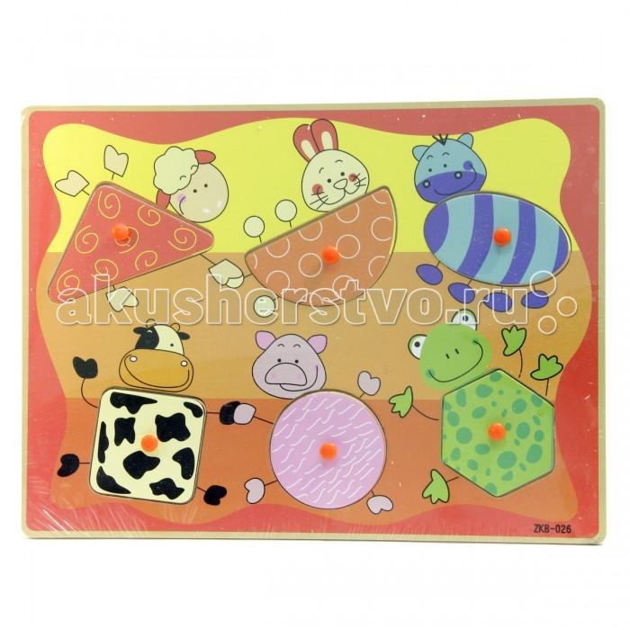 Деревянные игрушки Фабрика фантазий Рамка-вкладыш Животные 42273 деревянные игрушки фабрика фантазий сортер бабочка