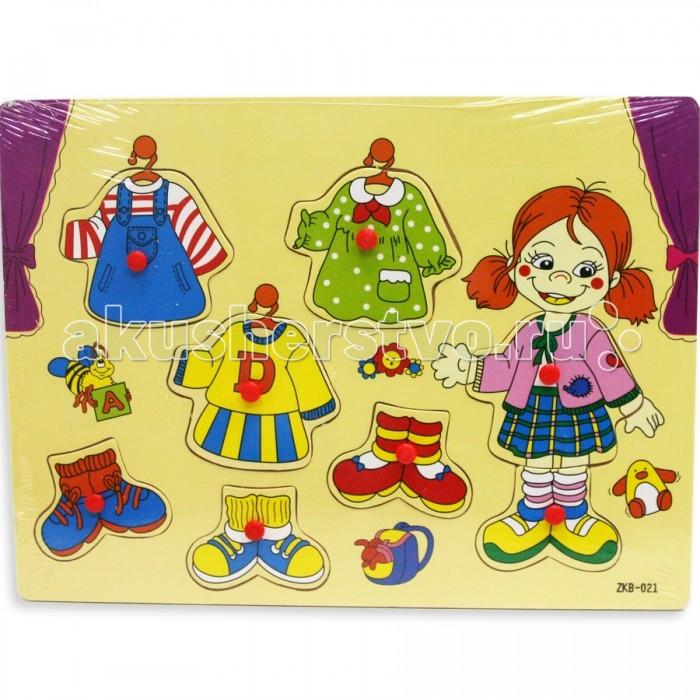 Деревянные игрушки Фабрика фантазий Рамка-вкладыш Модница 42274 фабрика фантазий пазл для малышей рамка вкладыш животные