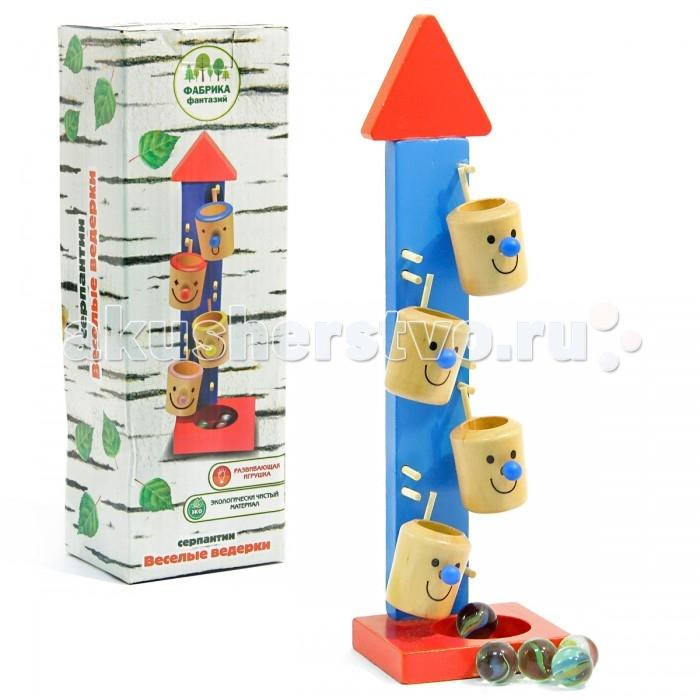Деревянные игрушки Фабрика фантазий Игра на ловкость Веселые ведерки 42295 деревянные игрушки фабрика фантазий сортер бабочка
